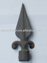 wrought iron spearpoint top for gate fence