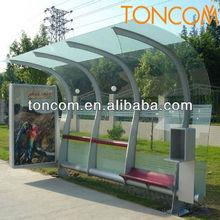 metal bus stop shelter