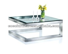 Modern clear glass coffee table CC-9941#