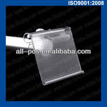 plastic label holder for metal hook