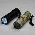 9 en aluminium led torche