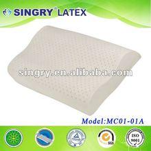 2012 hot seller curve 100% latex pillow