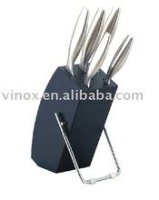 High Quality 5pcs Kitchen Knife With Wooden Block