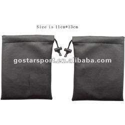 Black Nylon Golf Tee Bag with Your Logo