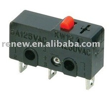 Pin plunger type snap action switch /push button reset switch
