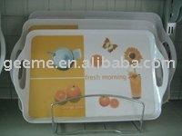 melamine tray with handles