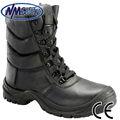 nmsafety alta corte de botas de segurança steel toe boot trabalho