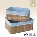 natural de almacenamiento cesta de bambú con forro extraíble