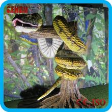 Animatronic life size snake statue