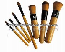 bamboo handle makeup brush kit private label makeup