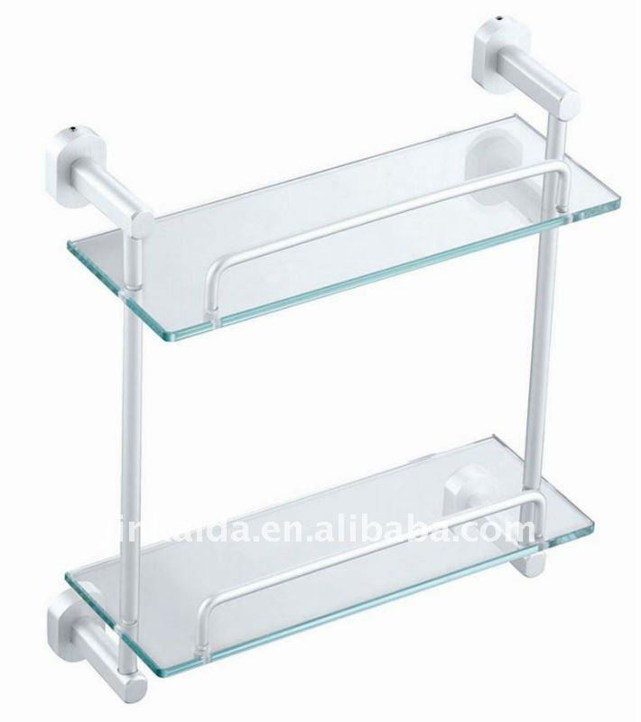 Support en verre de salle de bains en aluminium tag re for Etagere en verre salle de bain