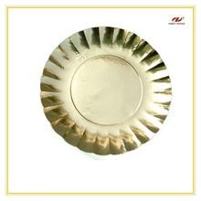 Fancy Golden Paper Plates