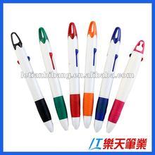 LT-B268 2 in 1 plastic logo pen 2 color pen