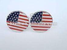 custom cufflinks with plating nickel for USA flag