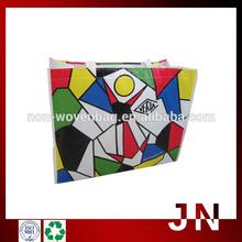Eco-friendly Laminated PP Woven Shopping Bag, Fashion PP Woven Shopping Bag For Gift