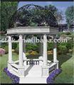 extérieur en marbre blanc de jardin gazebo
