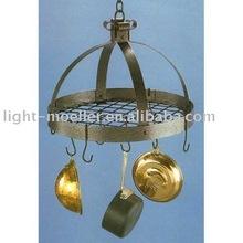 wrought iron kitchen hanging pot rack