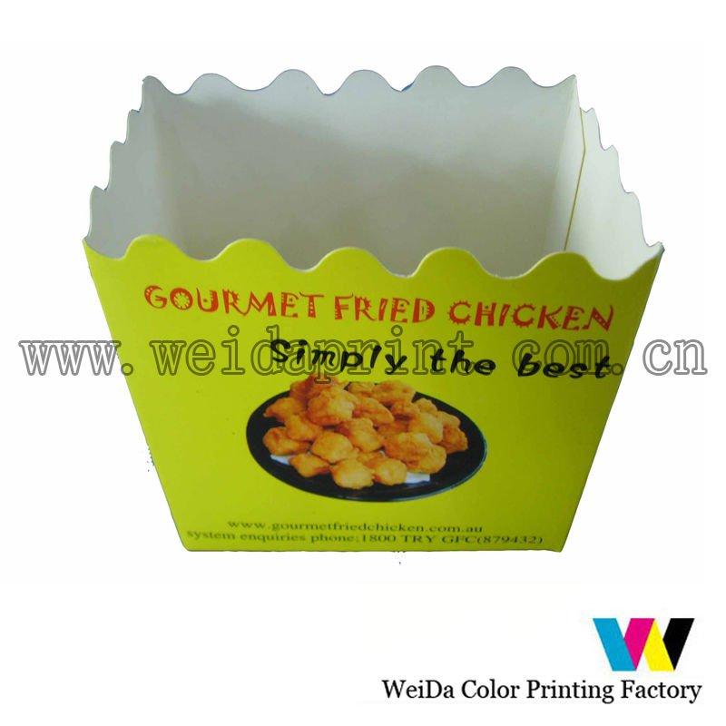 embalagem de alimentos caixa de frango frito