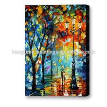 Wholesale impressionist street knife palette paintings