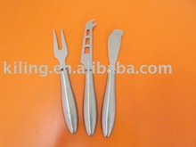 stainles steel 3 pcs cheese knife set