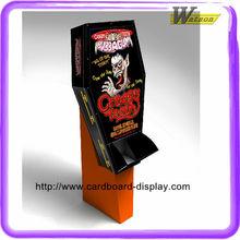 Promotion cardboard printing stand display shelf for shop