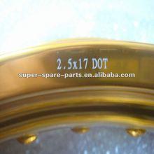 7075 aluminum rim for dirt bike 2.5X17 DOT