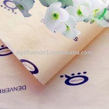 recurring print logo tissue paper