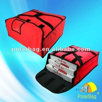 Thermal pizza delivery bag for 4 pizza boxes