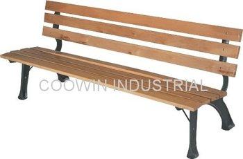 fir wood park bench