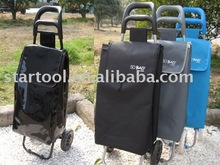 Shopping trolley with shining fabric