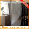 Decorative metal sequin folding room divider screens