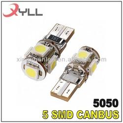 Canbus 194/ T10/ W5W 5pcs SMD 5050 Car LED Bulb