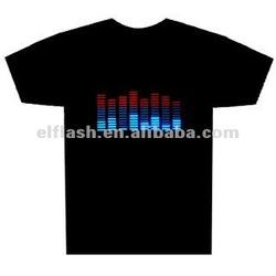 Animation EL T-shirts, with programmed el panels