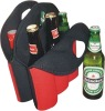neoprene 6 pack bottle cooler tote bag