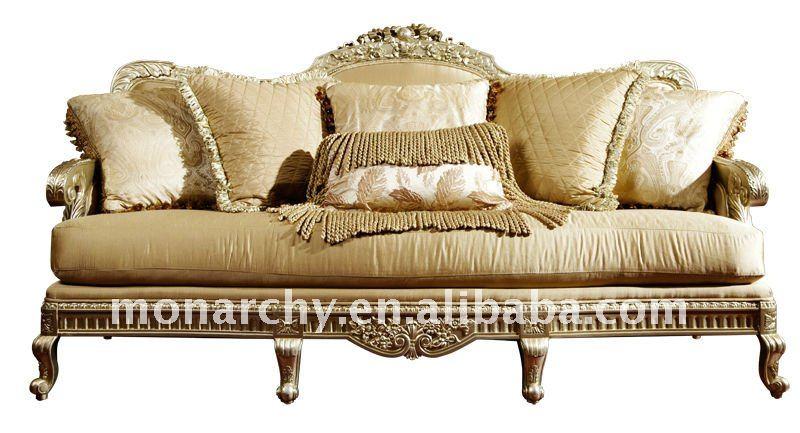 V062d 3-seater de lujo sólido de madera diseños de conjunto de sofás