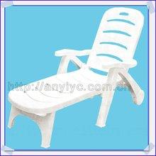 2012 adjustable white plastic beach chair,plastic garden chair
