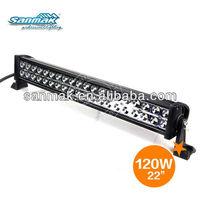 "IP67 waterproof super flux led light bar 22"" black white 4x4 truck car led light bar 120w"