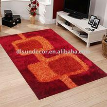 100% polyester long pile shaggy carpets