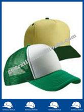 100% polyester plain trucker cap