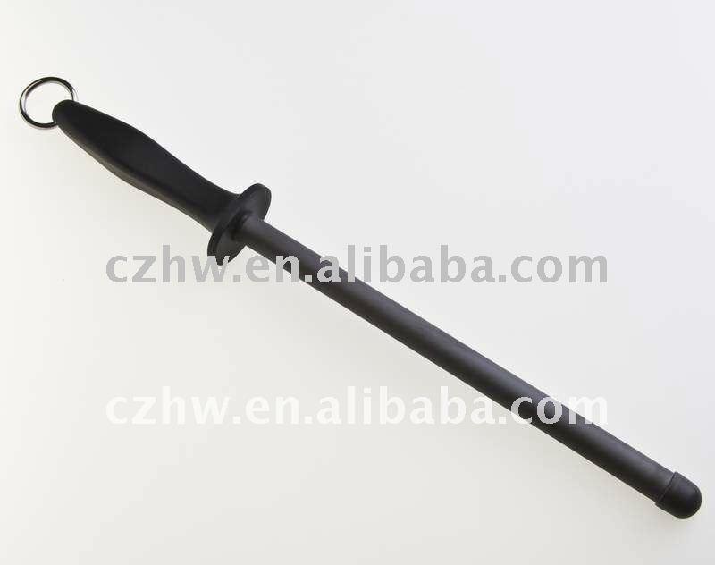 Anti - bruñido de acero colgante de acero de cerámica afilador de cuchillos