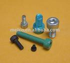 aluminium alloy hex socket head cap screws with color