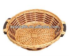 1pc light brown wicker handicraft