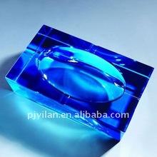 blue antique personalized promotional gift royalblue crystal ashtray