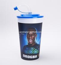 950ml/32oz 3d lenticular plastic straw cup