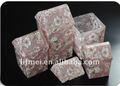 Caldo nuovo mini portatovaglioli acrilico, scatola tessuto con elegante desgin, formato personalizzato