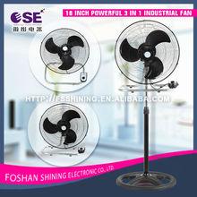 18 inch powerful 3 in 1 industrial fan electric power pedestal cheap stand fan FS-45-301