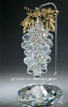 Presentes elegantes vidro bonito cristal cluster uva