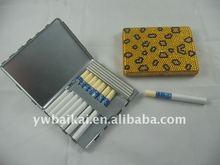 8pcs square metal bling diamond cigarette case with lighter