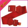 Plastic Buckle New Fashion Womens Wide red Elastic Belt