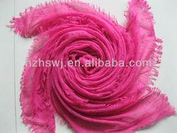 Spring ribbon fashion printing dot scarf